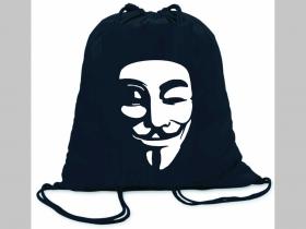 Anonymous ľahké sťahovacie vrecko ( batôžtek / vak ) s čiernou šnúrkou, 100% bavlna 100 g/m2, rozmery cca. 37 x 41 cm
