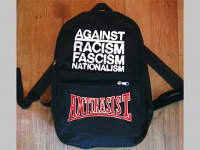 Antirasist Against racism fascism nationalism  jednoduchý ľahký ruksak, rozmery pri plnom obsahu cca: 40x27x10cm materiál 100%polyester