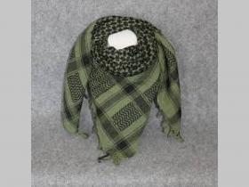 Arafatka hrubá čierno-olivovo zelená 100%bavlna