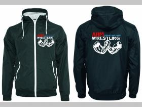 Arm Wrestling - Strong and Hard pánska šuštiaková bunda čierna materiál povrch:100% nylon, podšívka: 100% polyester, pohodlná,vode a vetru odolná