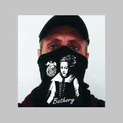 Elizabeth Bathory - Alžbeta Bátoriová čierna univerzálna elastická multifunkčná šatka vhodná na prekritie úst a nosa aj na turistiku pre chladenie krku v horúcom počasí