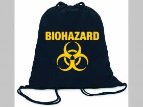 Biohazard ľahké sťahovacie vrecko ( batôžtek / vak ) s čiernou šnúrkou, 100% bavlna 100 g/m2, rozmery cca. 37 x 41 cm