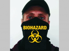 Biohazard univerzálna elastická multifunkčná šatka vhodná na prekritie úst a nosa aj na turistiku pre chladenie krku v horúcom počasí (použiteľná ako rúško )