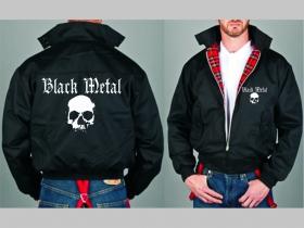 Black Metal  Bunda Harrington s hrejivou podšívkou farby RED TARTAN, obojstranné logo (s kapucou iba v čiernej farbe je za 42,90euro!!)