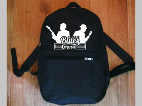 Blues Music jednoduchý ľahký ruksak, rozmery pri plnom obsahu cca: 40x27x10cm materiál 100%polyester
