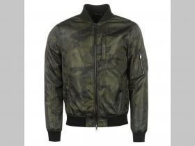 Prechodná pánska bunda bomber jar jeseň olivová s maskáčovým vzorom  materiál 100%polyester posledný d1ba57e52db