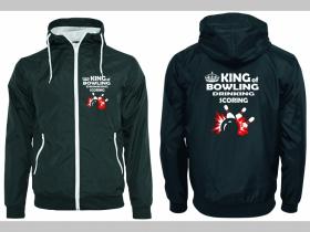 King of Bowling šuštiaková bunda čierna materiál povrch:100% nylon, podšívka: 100% polyester, pohodlná,vode a vetru odolná