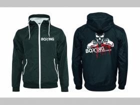 Boxing - Attack and Defense šuštiaková bunda čierna materiál povrch:100% nylon, podšívka: 100% polyester, pohodlná,vode a vetru odolná