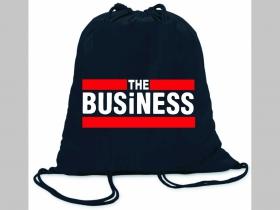 Business ľahké sťahovacie vrecko ( batôžtek / vak ) s čiernou šnúrkou, 100% bavlna 100 g/m2, rozmery cca. 37 x 41 cm