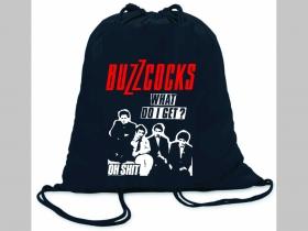 Buzzcocks ľahké sťahovacie vrecko ( batôžtek / vak ) s čiernou šnúrkou, 100% bavlna 100 g/m2, rozmery cca. 37 x 41 cm