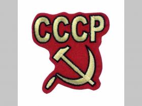 CCCP nažehľovacia vyšívaná nášivka (možnosť nažehliť alebo našiť na odev) materiál 100%bavlna rozmery: cca. 8,5x8cm