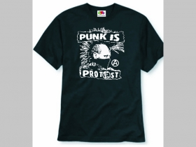 Punk is Protest pánske tričko 100%bavlna značka Fruit of The Loom