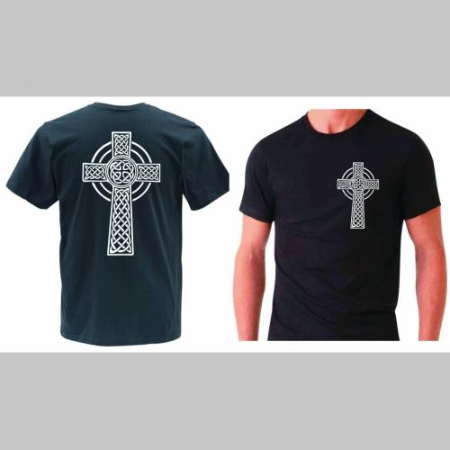 ff0391297b46 Gotický kríž pánske tričko s obojstrannou potlačou 100%bavlna značka ...