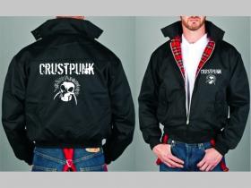 Crust Punk  Bunda Harrington s hrejivou podšívkou farby RED TARTAN, obojstranné logo (s kapucou iba v čiernej farbe je za 42,90euro)
