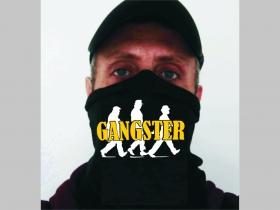 Gangster univerzálna elastická multifunkčná šatka vhodná na prekritie úst a nosa aj na turistiku pre chladenie krku v horúcom počasí (použiteľná ako rúško )