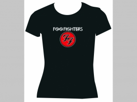 Foo Fighters, čierne dámske tričko 100%bavlna