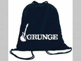 Grunge ľahké sťahovacie vrecko ( batôžtek / vak ) s čiernou šnúrkou, 100% bavlna 100 g/m2, rozmery cca. 37 x 41 cm