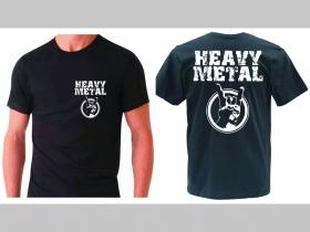 Heavy Metal  pánske tričko 100 %bavlna s obojstranným logom, značka Fruit of The Loom