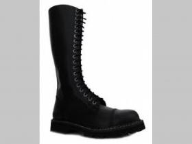 Steel Boots, obuv 20.dierkové topánky s prešívanou oceľovou špičkou čierne, posledný pár veľkosť 44 (iné farby, počty dierok a veľkosti na našej stránke v rubrike obuv značka STEADYS)