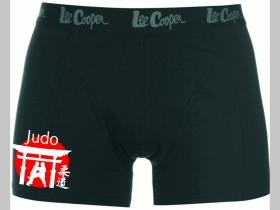 Judo čierne trenírky BOXER s tlačeným logom, top kvalita 95%bavlna 5%elastan
