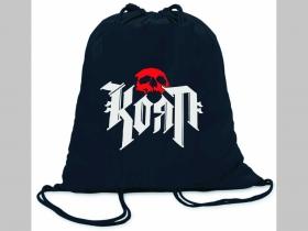 Korn ľahké sťahovacie vrecko ( batoh / vak ) s čiernou šnúrkou, 100% bavlna 100 g/m2, rozmery cca. 37 x 41 cm