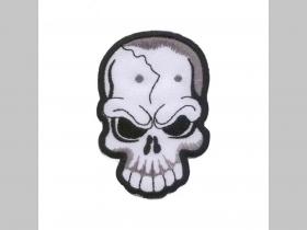 lebka - smrtka nažehľovacia vyšívaná nášivka (možnosť nažehliť alebo našiť na odev) materiál 100%bavlna rozmery: cca. 8 x 5,5cm