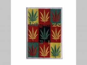 Legalize it - Ganja - tráva, nažehľovacia vyšívaná nášivka (možnosť nažehliť alebo našiť na odev) rozmery: 9x6cm  materiál100%bavlna