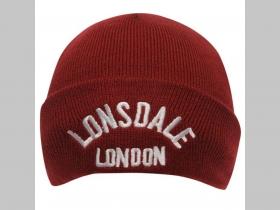 0d9912965 Lonsdale bordová zimná čiapka