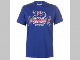 7a4910f18844 Lonsdale pánske tričko UNION JACK s tlačeným logom farba royal (kráľovsky)  modrá ...