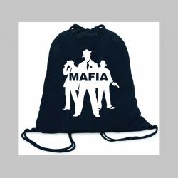 Mafia ľahké sťahovacie vrecko ( batôžtek / vak ) s čiernou šnúrkou, 100% bavlna 100 g/m2, rozmery cca. 37 x 41 cm