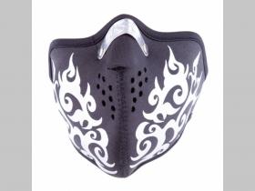 Tattoo Gumotextilná maska (imitácia kože) v tvare respirátora so zapínaním vzadu na suchý zips, materiál 65%bavlna 35%polyester, nastaviteľná univerzálna veľkosť