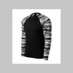 """Pánske tričko (nie mikina!!)  s dlhými rukávmi vo farbe """" metro """" čiernobiely maskáč gramáž 160 g/m2  materiál  100%bavlna"""