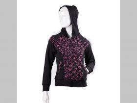 ROCK STARS -  Hviezdy dámska mikina na zips s kapucou materiál 100% bavlna  jedna veľkosť M/L