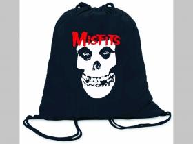 Misfits ľahké sťahovacie vrecko ( batoh / vak ) s čiernou šnúrkou, 100% bavlna 100 g/m2, rozmery cca. 37 x 41 cm
