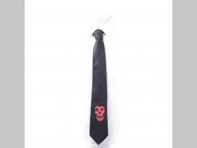 Misfits - smrtka - lebka Kravata čierna materiál 100% polyester