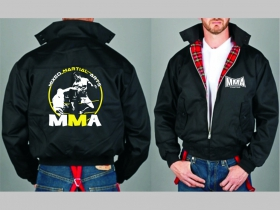 MMA Mixed Martial Sports  Bunda Harrington s hrejivou podšívkou farby RED TARTAN, obojstranné logo (s kapucou iba v čiernej farbe je za 42,90euro)