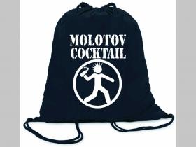 Molotov Cocktail ľahké sťahovacie vrecko ( batoh / vak ) s čiernou šnúrkou, 100% bavlna 100 g/m2, rozmery cca. 37 x 41 cm