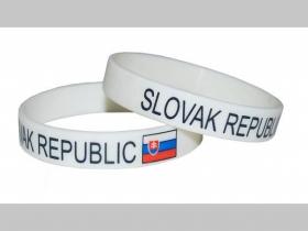Silikónový náramok SLOVAC REPUBLIC,  cena za 1ks!