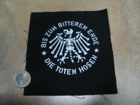 Toten Hosen potlačená nášivka rozmery cca. 12x12cm (po krajoich neobšívaná)