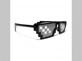 crazy plastové čierne okuliare