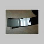 čistý maskáčový hrubý látkový opasok so zapínaním na posuvnú kovovú pracku, univerzálna nastaviteľná dĺžka, šírka 37mm