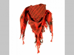 Arafatka oranžovočierna 100%bavlna