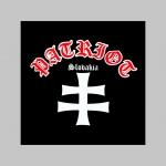 Patriot Slovakia hrubá čierna mikina na zips s kapucou