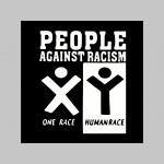 People Against Racism zimná pánska bunda zateplená čierno-olivová s kapucňou