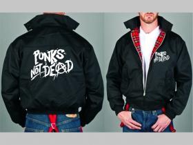 Punks not Dead Bunda Harrington s hrejivou podšívkou farby RED TARTAN, obojstranné logo (s kapucou iba v čiernej farbe je za 42,90euro)