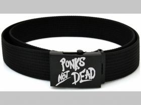 Punks not Dead plátený opasok