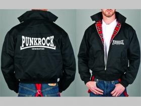 Punk Rock Generation Bunda Harrington s hrejivou podšívkou farby RED TARTAN, obojstranné logo (s kapucou iba v čiernej farbe je za 42,90euro)