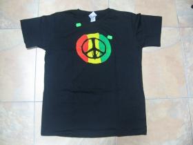 Rasta peace, pánske tričko čierne 100%bavlna