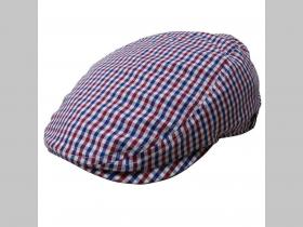 Rude Boy čiapka modrobieločervené káro 100% bavlna prispôsobivá veľkosť