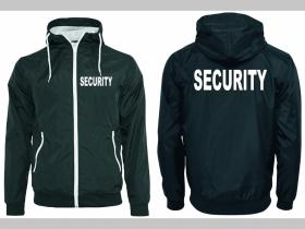 SECURITY šuštiaková bunda čierna materiál povrch:100% nylon, podšívka: 100% polyester, pohodlná,vode a vetru odolná